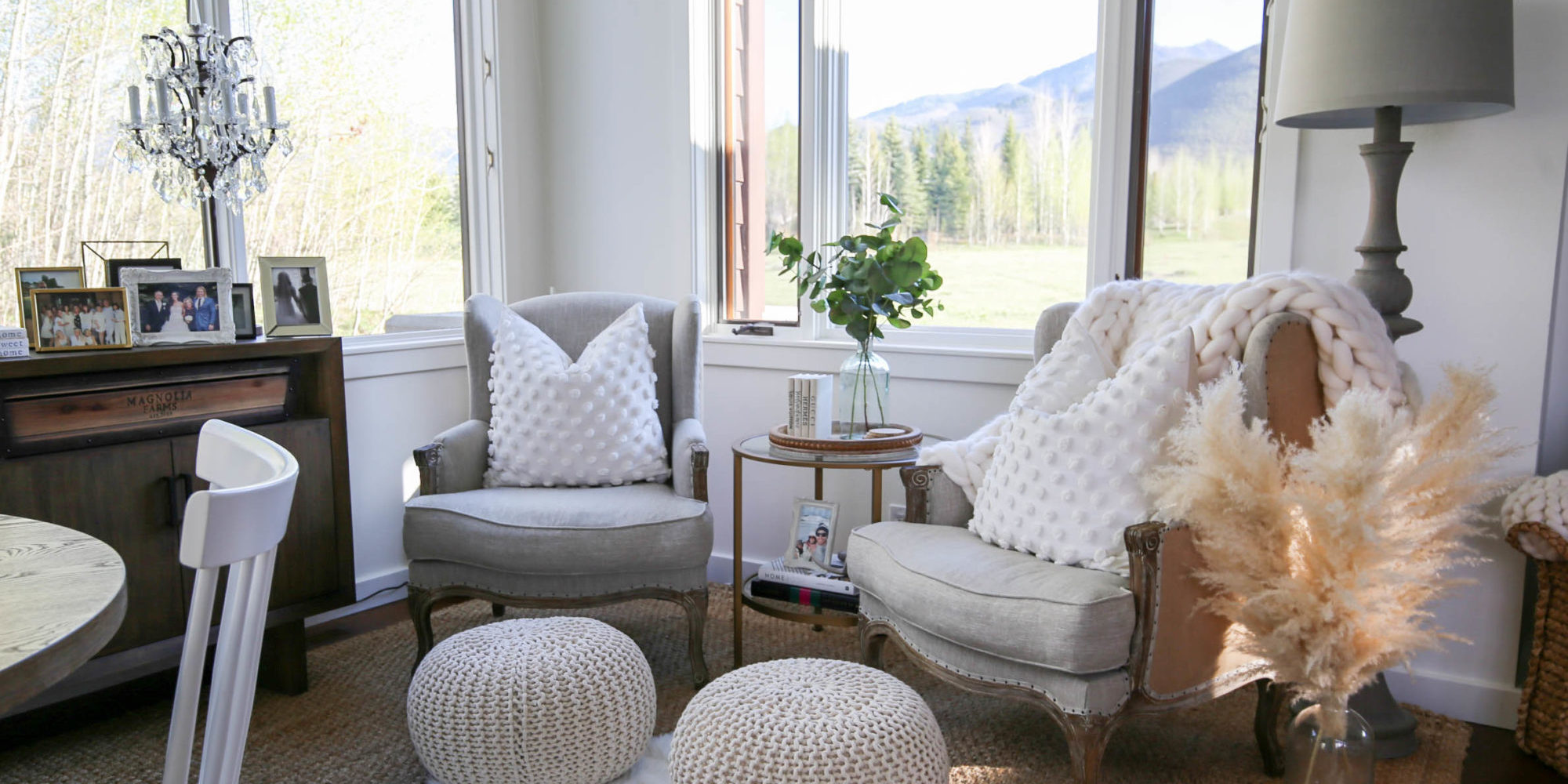 how to style a cozy corner