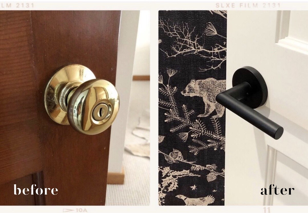 before and after door hardware