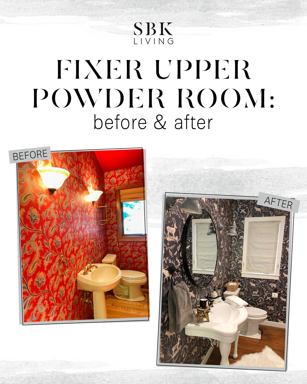 SBK living fixer upper powder room