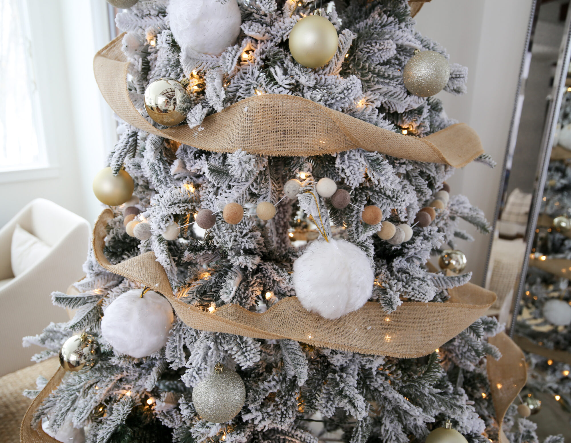 How I Style An Easy Farmhouse Christmas Tree Styled By Kasey