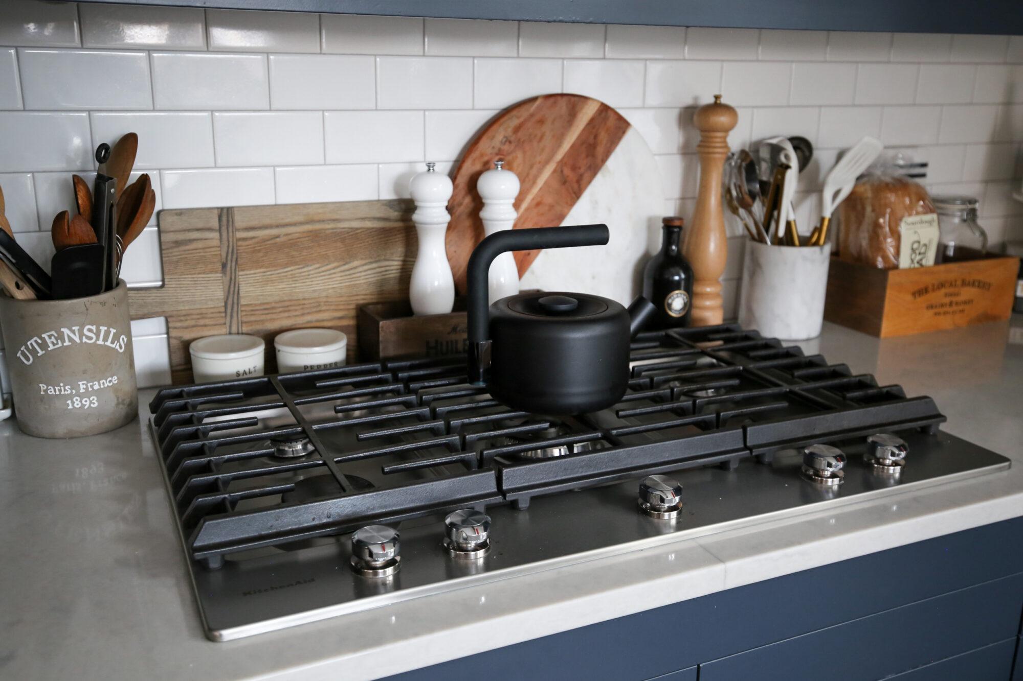 fixer upper blue kitchen