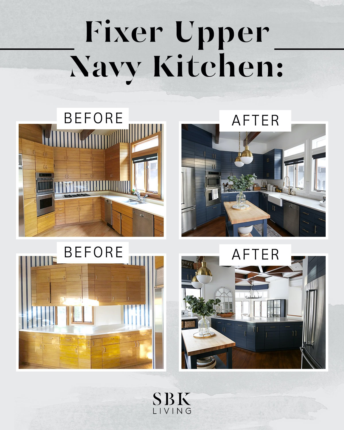 fixer upper kitchen before and after