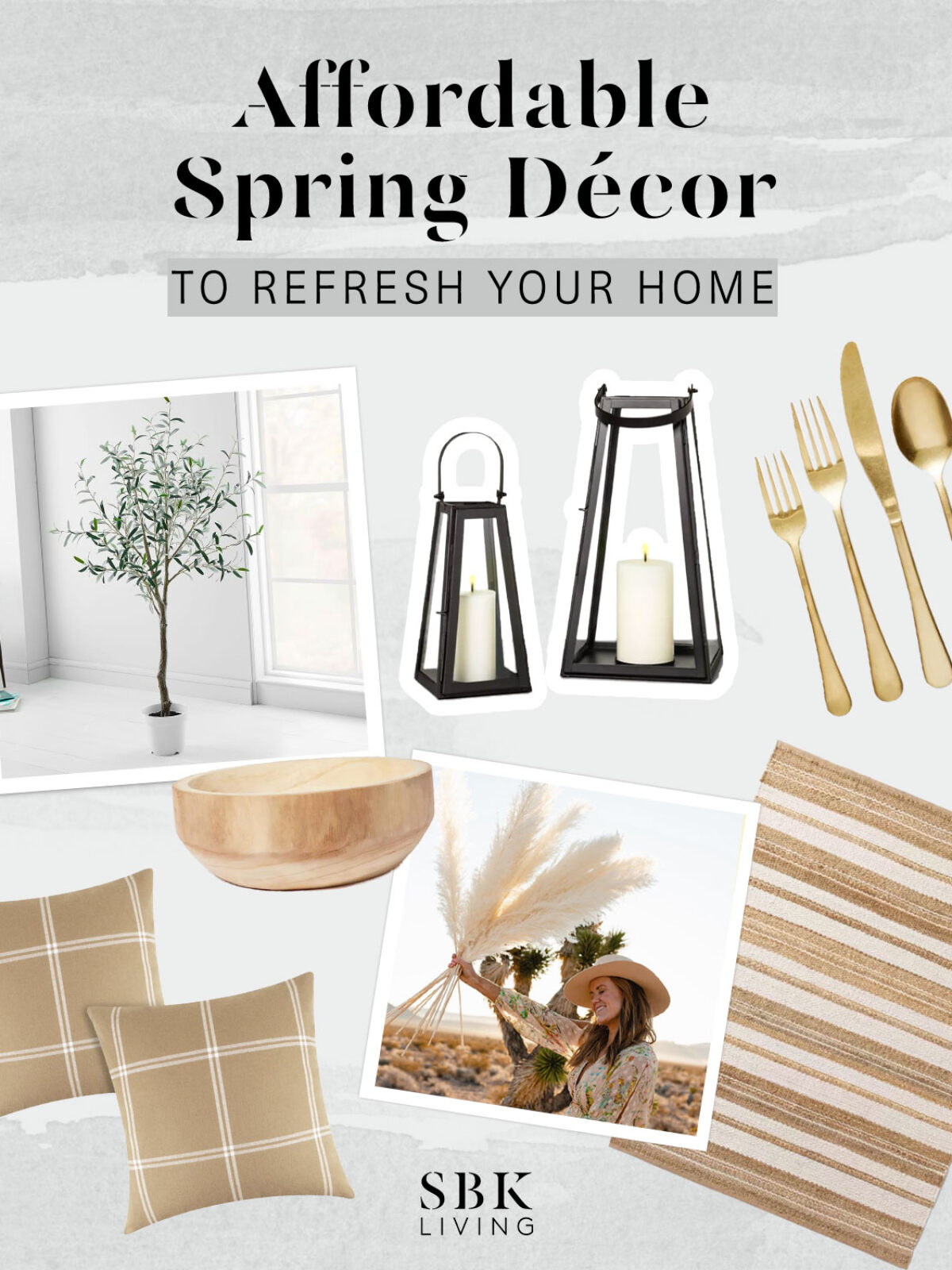 affordable spring decor to refresh your home