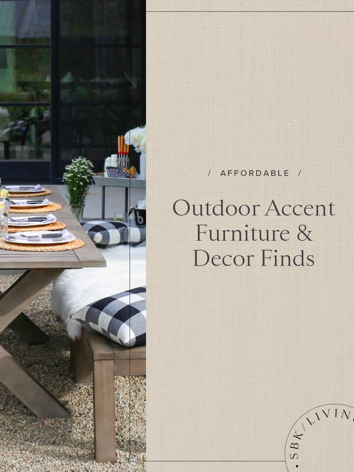 outdoor accent furniture and decor