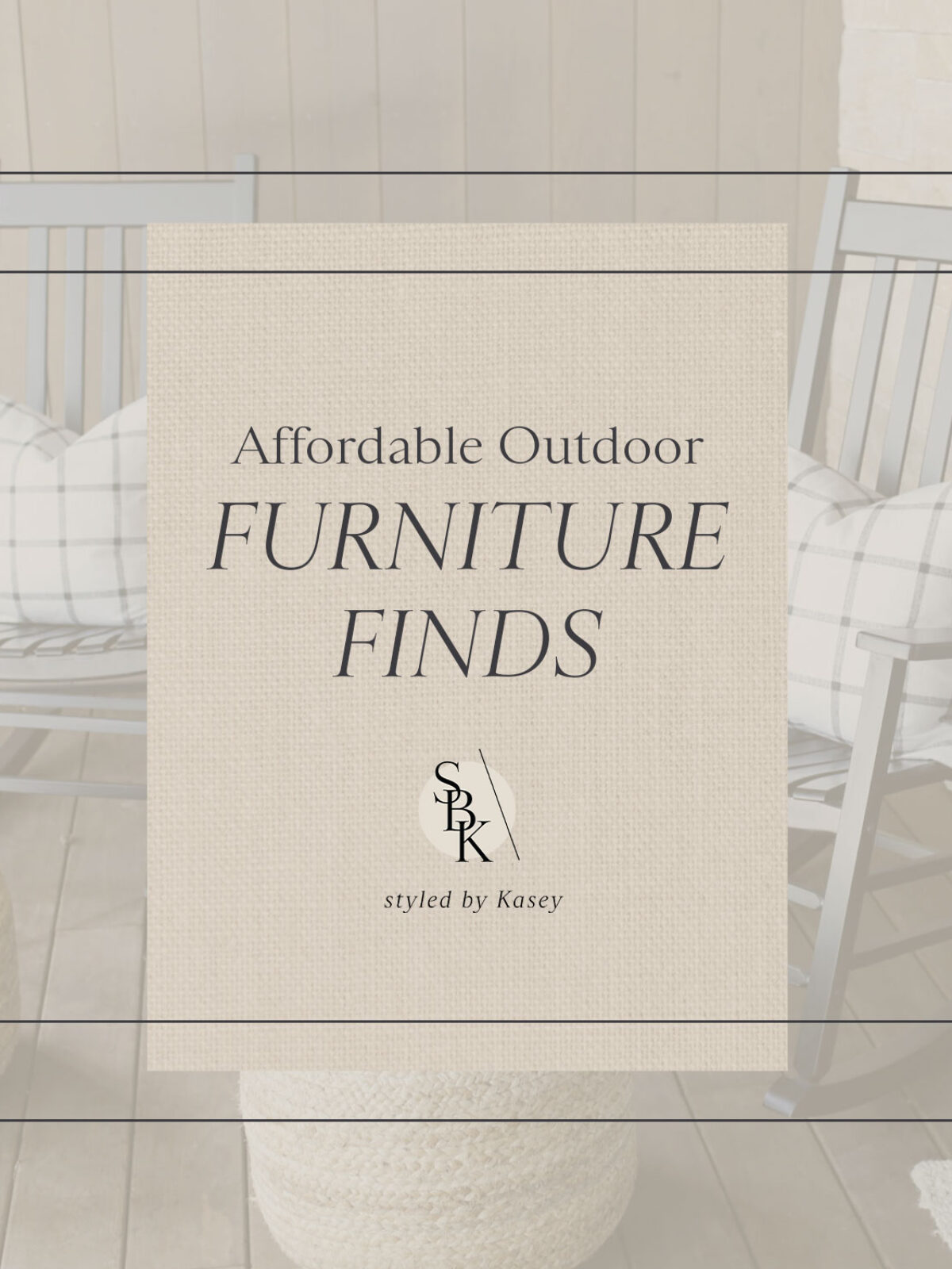 affordable outdoor furniture finds