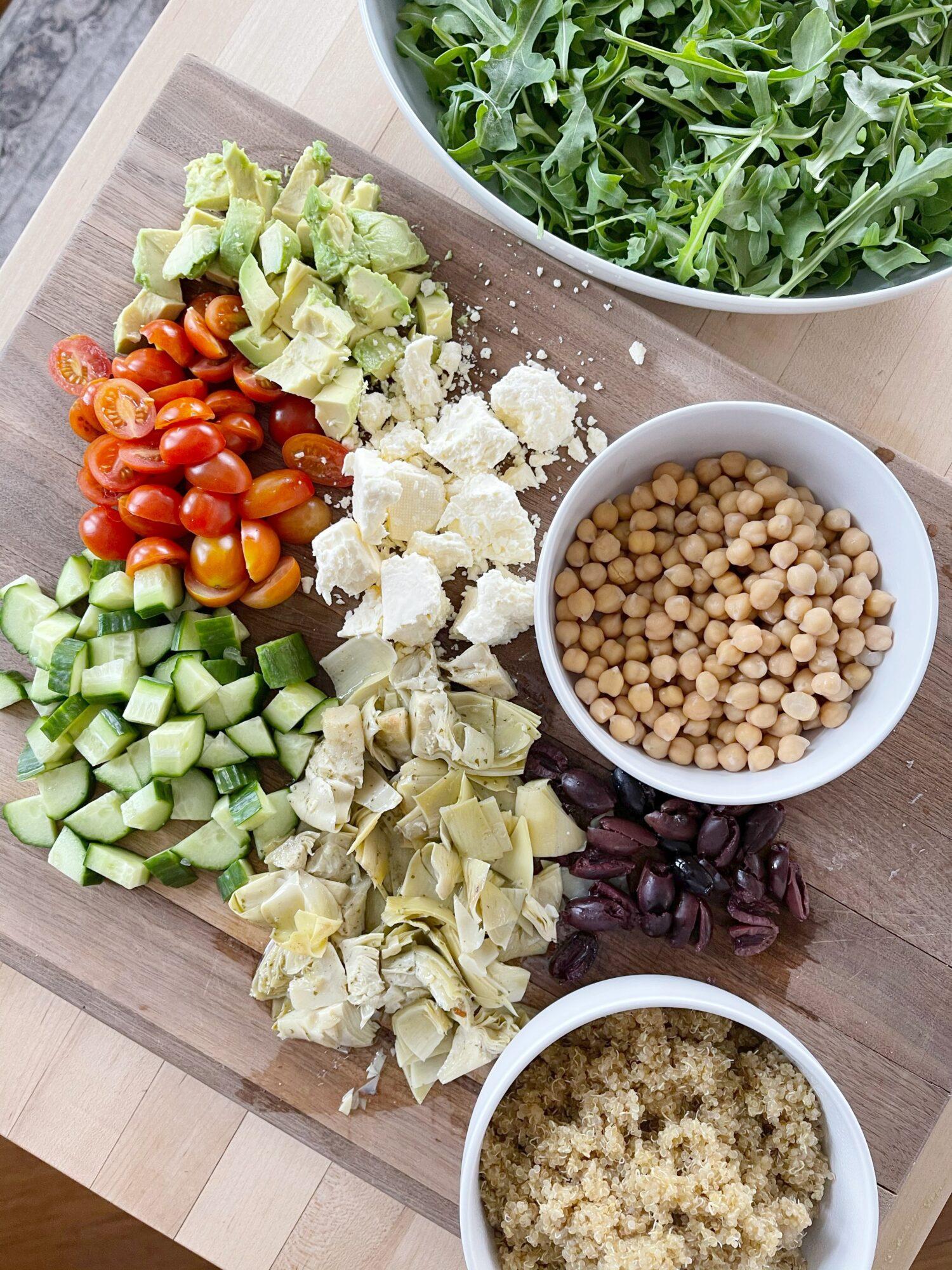 med quinoa salad