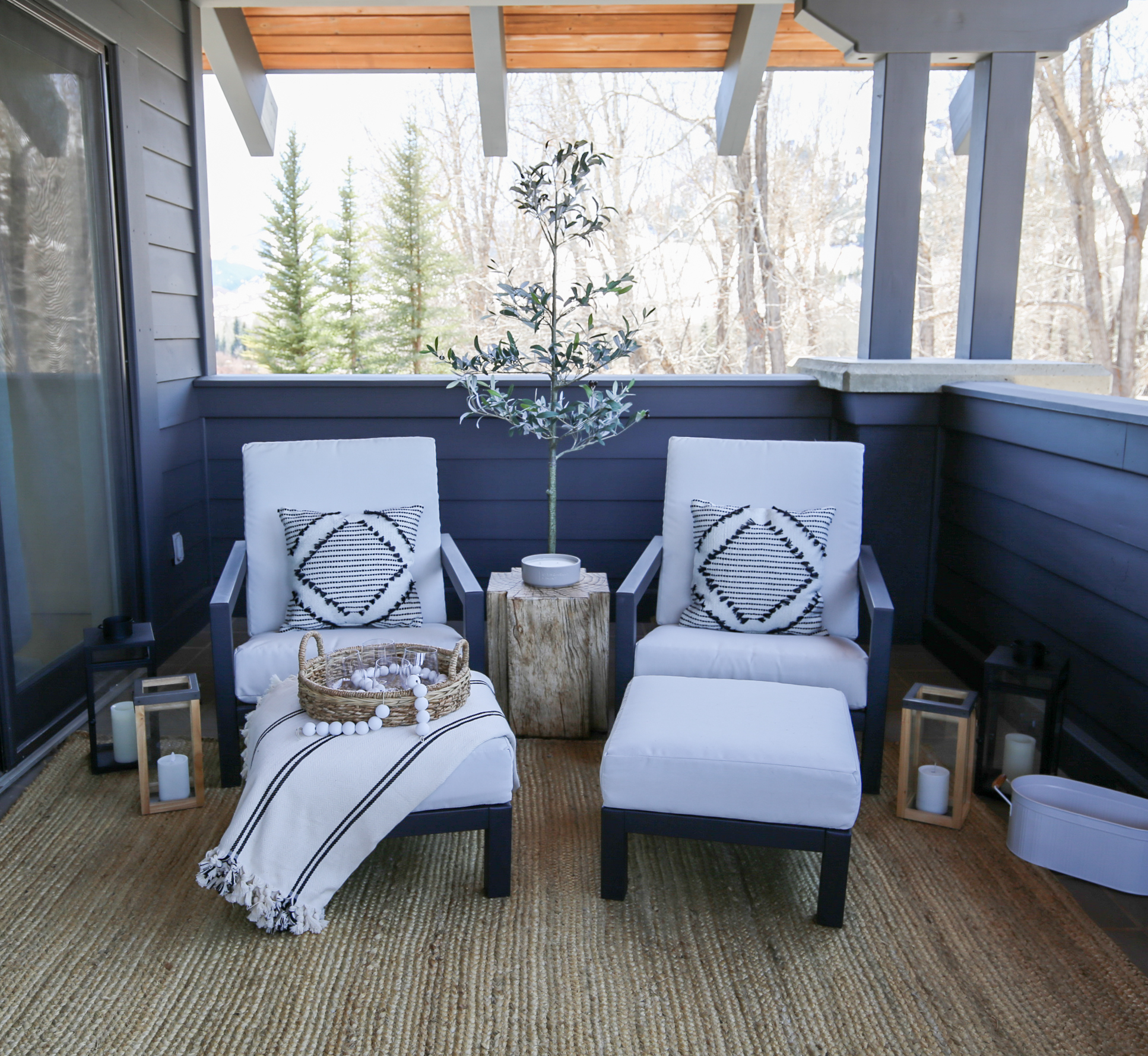 bedroom patio seating area