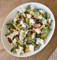 summer peach and burrata salad
