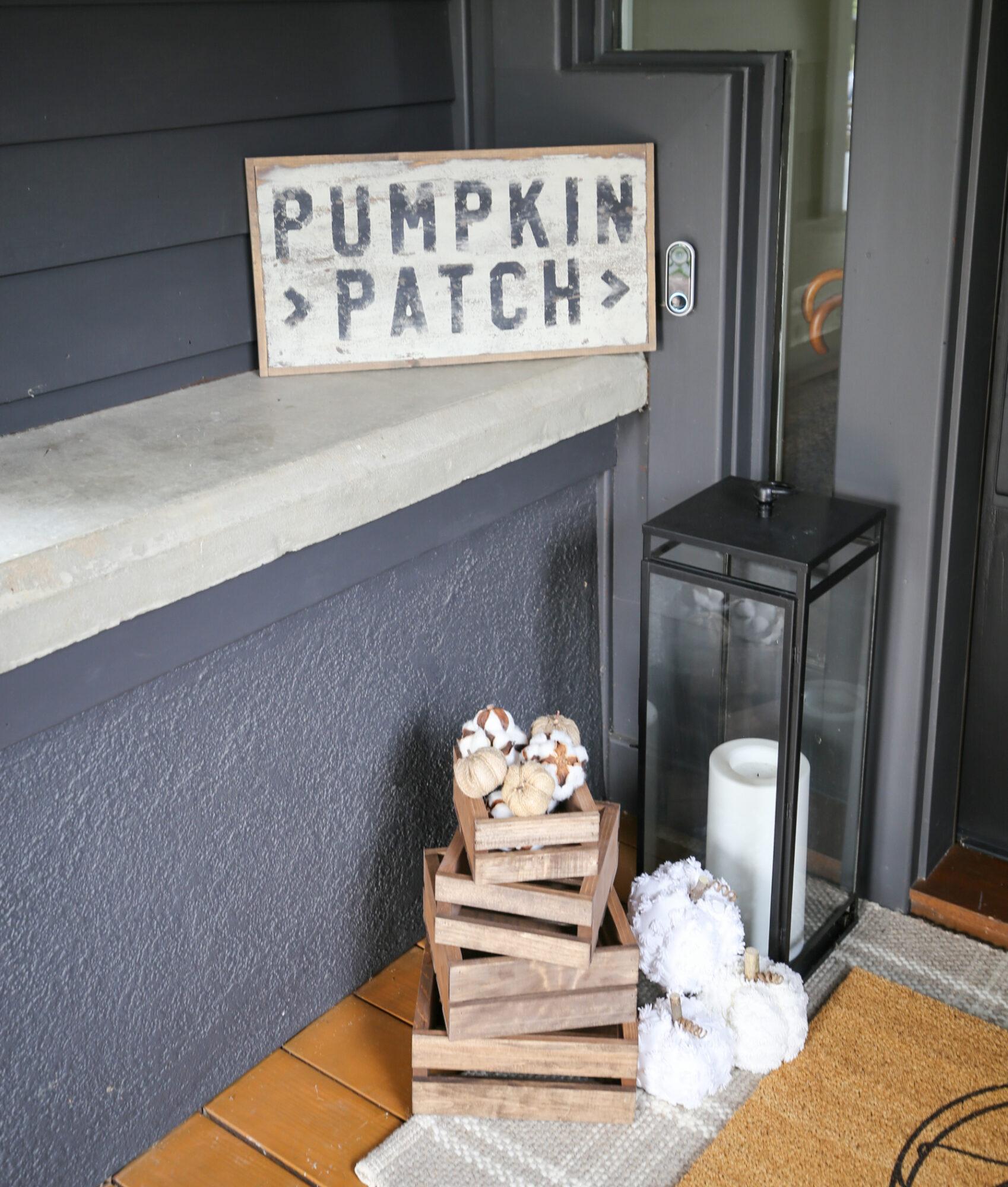 country fall front door