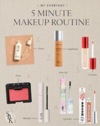 my 5 min makeup routine