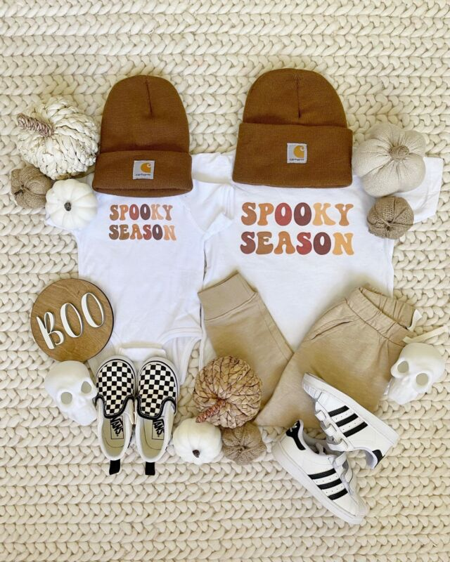 F A L L \ Y'all spooky season is upon us and you better believe I'll be dressing the boys in V cute outfits🍂😜 These tees and matchy carharrt beanies kill me!💀🥰Dressing Ford and West in these ASAP!! #boymom  Sharing the looks on stories today OR head over to the @shop.ltk app to shop! I've been posting SO much fall & Halloween content - not seen here on insta!😉 click the link in my bio🧙🏻♀️ #sbkliving  #fall #falloutfit #pumpkins #babyboy #toddler #babyclothes #liketkit #LTKkids #LTKSeasonal #LTKbaby @shop.ltk http://liketk.it/3ob4k