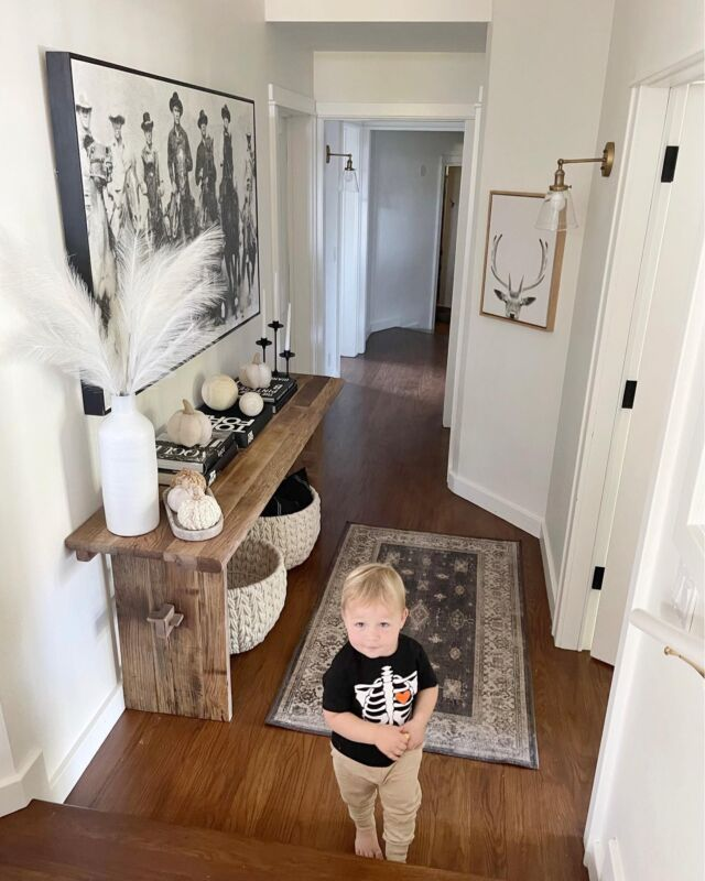 H O M E \ The cutest photo bomber around! The face Ford's giving me… AND in that shirt🥰💀 looking a little mischievous😜😜 hehe Wonder what he's going to destroy next?? #toddlerlife  Rounding up CONSOLE TABLES on today's funds including my rustic beauty! Swipe right to see all of them - 5 under $400 AND 5 splurge-worthy options👏🏻👏🏻 Time to give your entry a little refresh! Sharing them on stories today OR head over to @shop.ltk to shop🙋🏻♀️ Click the link in my bio!  #consoletable #halloween #fall #falldecor #pumpkins #kidshalloween #homedecor #liketkit #LTKhome #LTKSeasonal #LTKkids @shop.ltk http://liketk.it/3onEe
