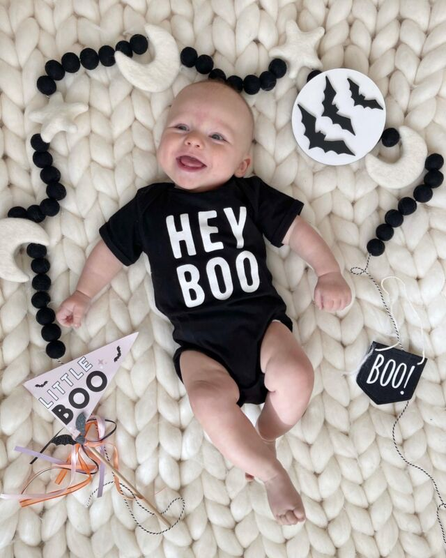 W E S T \ Hey, BOO!!👻 Baby boy is ALL smiles and looking V cute over here in his festive onesie!🖤🤍 I of course got Ford one too, but haven't captured him in it yet😜🤪 #toddlerlife Now that I have two under two, it makes you REALLY appreciate the newborn phase!☺️😂 Like, reallllllly!! Hehe  If you're looking for some Halloween outfits for kiddos, make sure to check out my LTK feed - sharing a bunch this month!🧙🏻♀️ Linking some on stories today!  #halloween #halloweenbaby #babyboy #fallbaby #liketkit #LTKfamily #LTKbaby #LTKSeasonal @shop.ltk http://liketk.it/3p8Iv