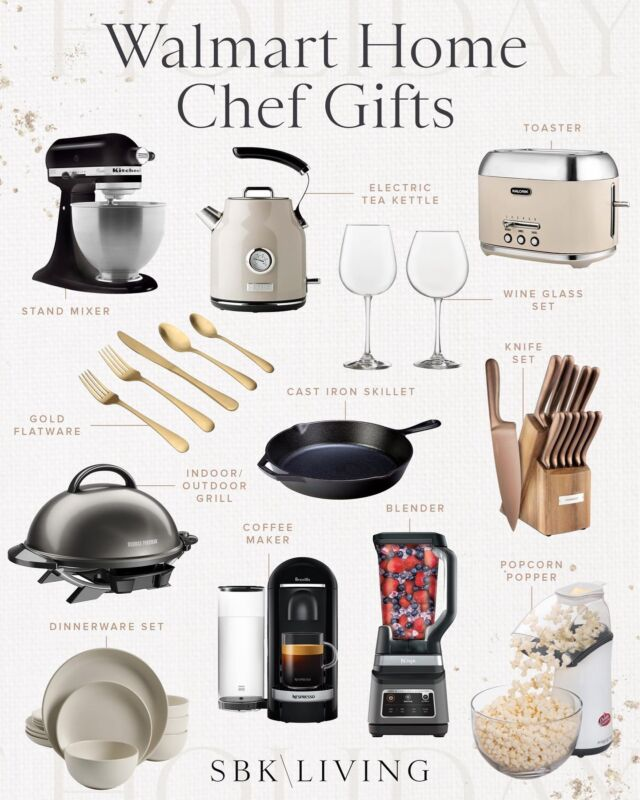 H O L I D A Y S \ Home chef gift guide🧑🏼🍳👩🏻🍳 Here are my top picks a la @walmart #ad SO many good ideas for this holiday season! I just got the black Kitchenaid and she's a beaut!!🖤 Ford and I used it today to make gf brownies for Grandpa's birthday!! Recipe linked over on stories. A whole lot of baking is happening in our household! Shop my roundup on the @shop.ltk app!🎁  #walmart #walmartfind #walmarthome gifts #holiday #chef #kitchen #cooking #baking #giftguude #liketkit #LTKGiftGuide #LTKhome @shop.ltk http://liketk.it/3qeuF